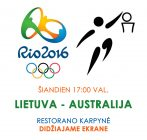 Olimpinis vyrų krepšinio turnyras : Lietuva – Australija. Tiesioginė vaizdo transliacija.